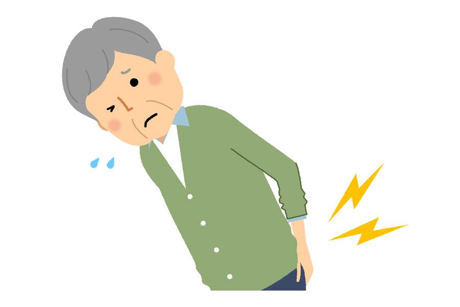 ぎっくり腰、脊柱管狭窄症、椎間板ヘルニアによる痛み